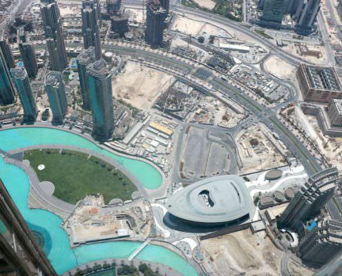 Dubai Opera aerial view
