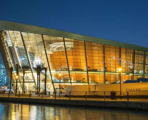 Dubai Opera House at night
