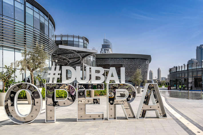 Dubai Opera is a 1901 seat, multi-format, performing arts center, which is located within The Opera District in Downtown Dubai