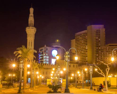 Omar Makram Mosque on Tahrir Square in Cairo