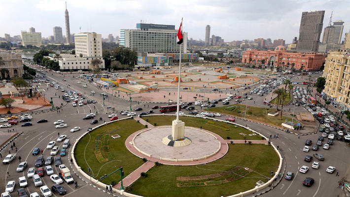 Tahrir Square, Downtown Cairo