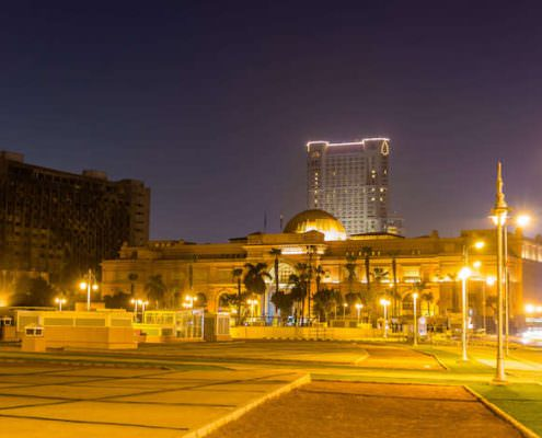 The Egyptian Museum at Tahrir Square in Cairo