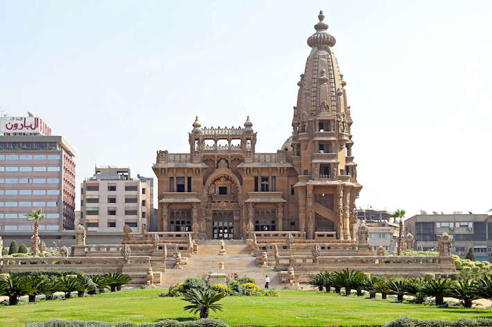 The Abandoned Baron Empain Palace in Heliopolis City in Cairo, Egypt