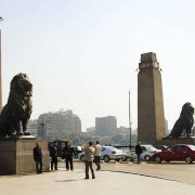 Kasr Al Nile Bridge Entrance - Cairo - Egypt
