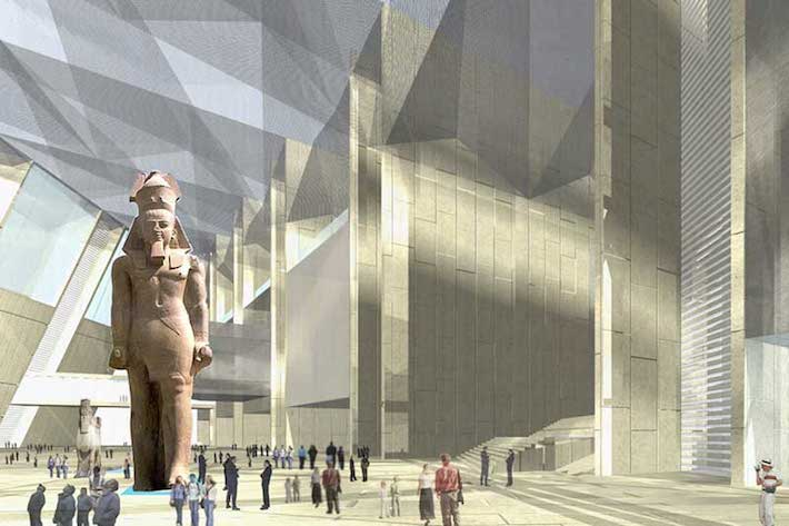 Plaza of the Grand Egyptian Museum