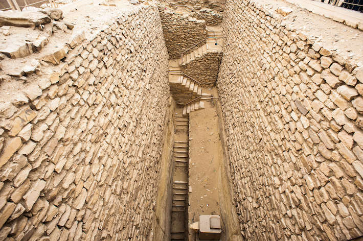 Saqqara Complex. Stairs leading leading to the chambers and tunnels