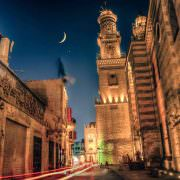 View of Qalawun Complex from Muizz street also this area is nicknamed Bayn Al Qasrayn