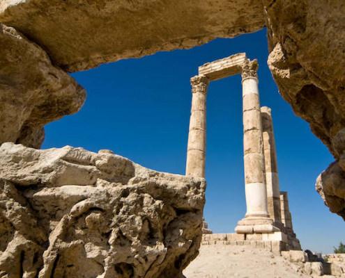 Columns of the Temple of Hercules, Amman Citadel