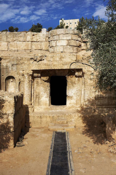 Entrance to the Cave of the Seven Sleepers near Amman, Jordan