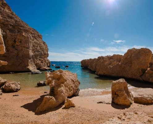 Cove in Ras Muhammad National Park in Sinai, Egypt