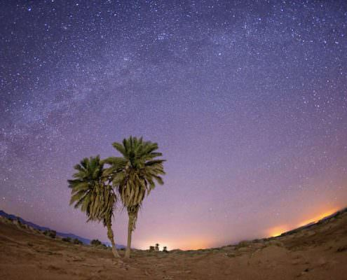 Milky Way over Nabq National Park. Sharm el Sheikh. Egypt