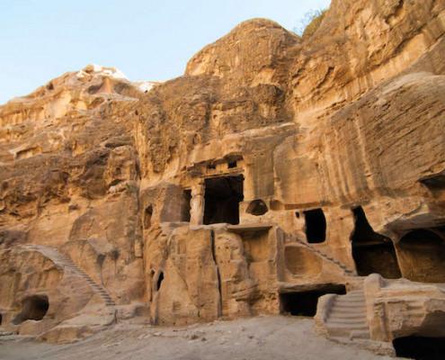 Nabataean delubrum in Siq al-Barid in Jordan