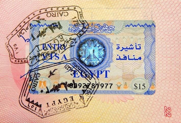 Pasaporte con visa Egipcia