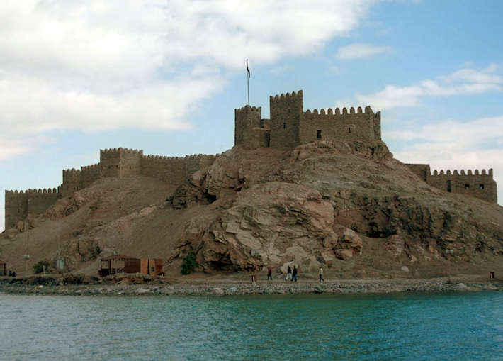 Saladin's fort at Pharaoh's Island, Egypt