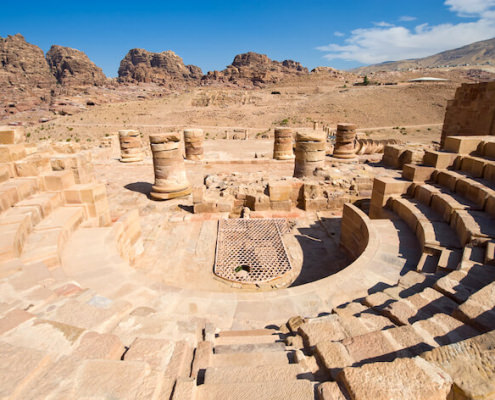 Small Roman theatre in the Great Temple in Petra