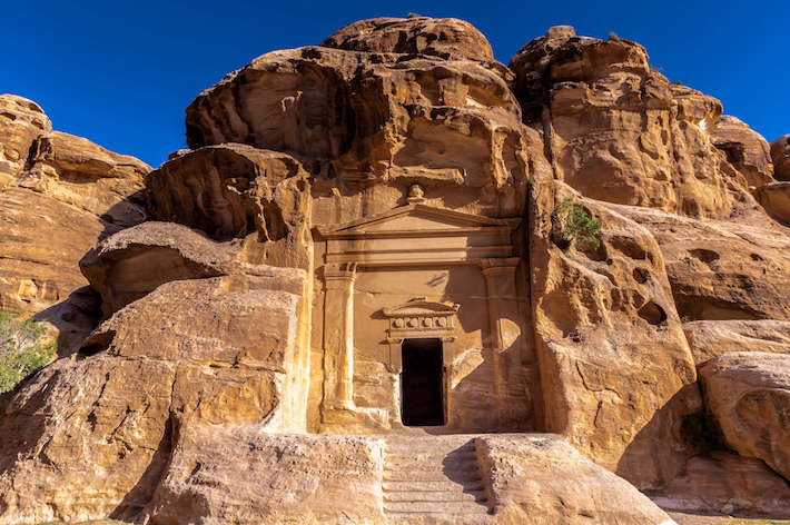 Temple in Little Petra, Siq al-Barid, Jordan