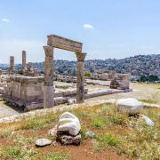 Temple of Hercules and the hand at the Amman Citadel, Jordan