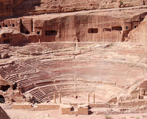 The Amphitheater in Petra