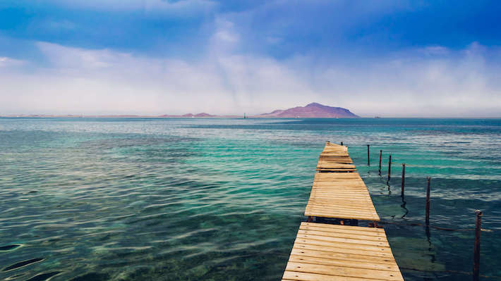 Tiran Island in the distance, Sharm El Sheikh, Egypt