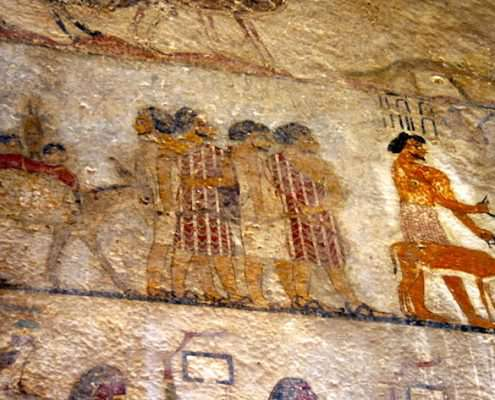 Wall paintings in Tomb of Khnoumhotep II, Minya