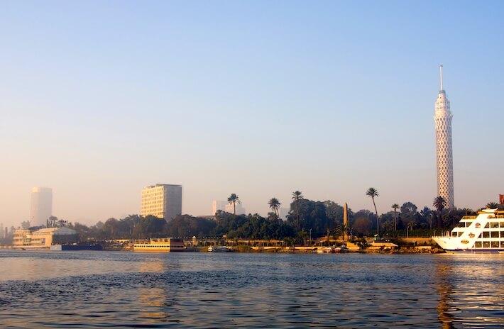 El río Nilo en el Cairo
