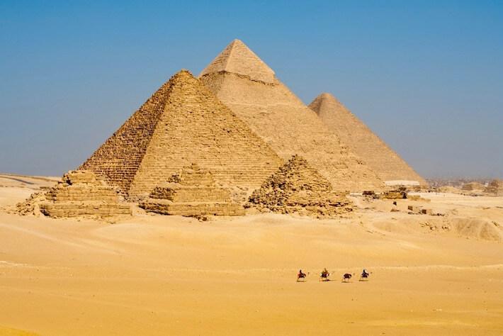 Las pirámides de Giza, Cairo