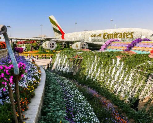 Emirates Airbus in Dubai Miracle Garden