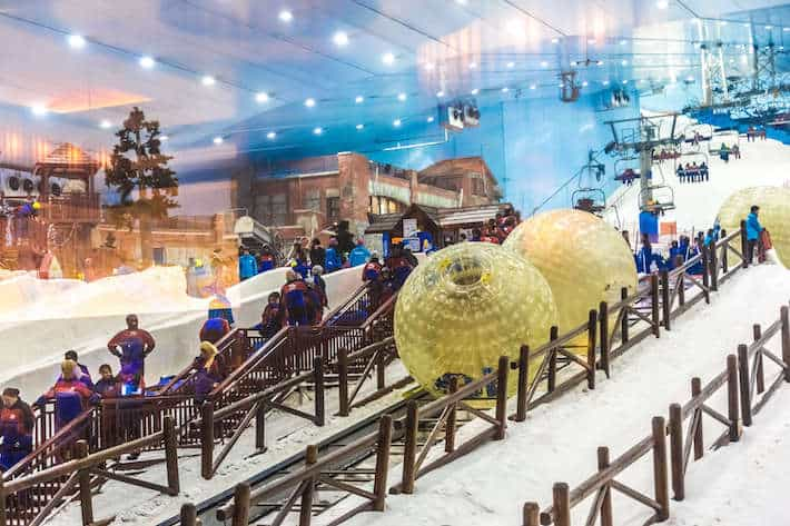 Ski Dubai, interior