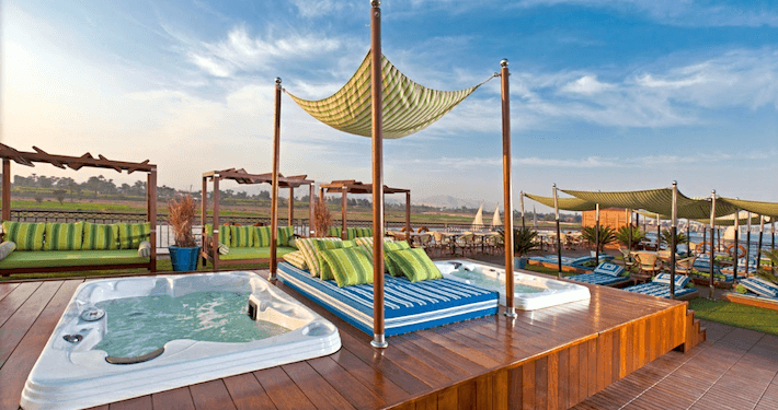 MS Mayfair Nile Cruise Jacuzzi Area