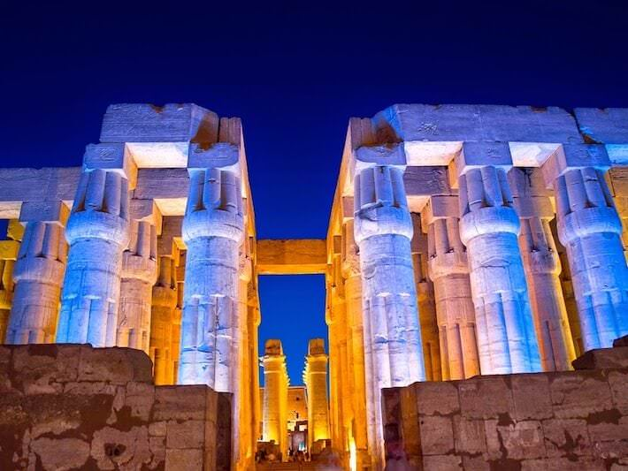 Traveling Egypt - Luxor Temple at night, Thebes