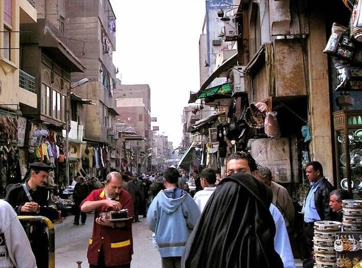 Street in Khan El Khalili bazaar