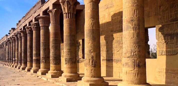 Best itinerary for Egypt - Columns in Philae Temple