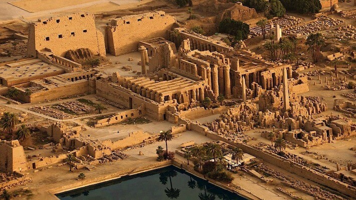 Aerial view of the Karnak Temple in Luxor