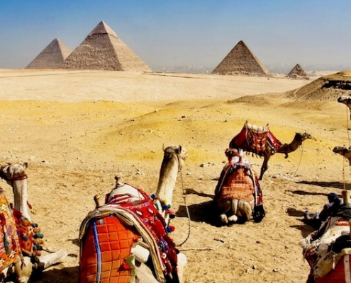 Best time of year to visit Egypt and Jordan - Camels and Pyramids in Egypt