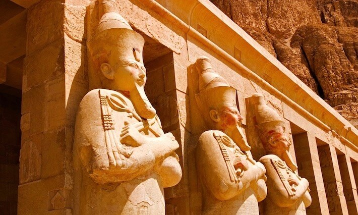 Is Egypt safe for tourists? Statues of Queen Hatshepsut