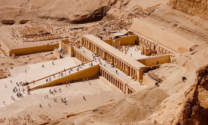 Is Egypt safe for Americans - Temple of Queen Hatshepsut seen from cliff top