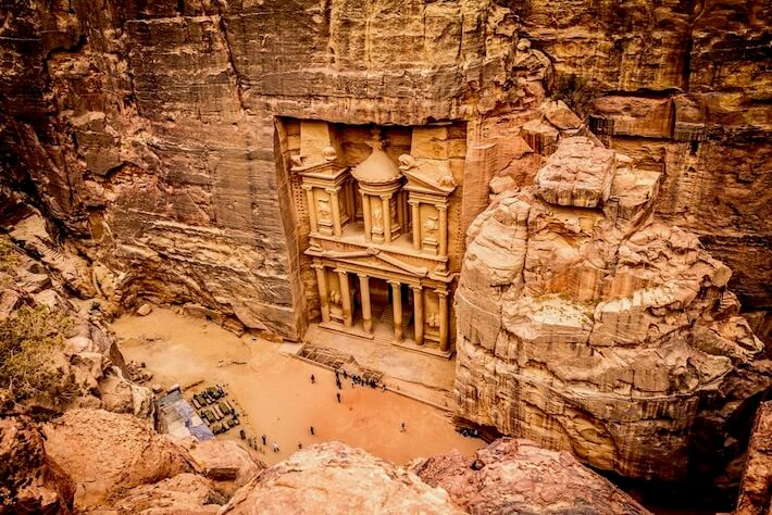The Best time to visit Egypt and Jordan - Treasury in Petra in Jordan