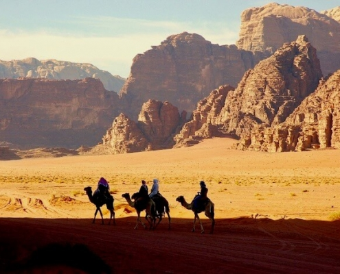 Jordan Tours from Singapore - Camel trip in Wadi Rum Desert