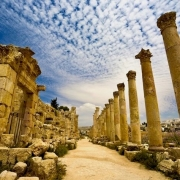 Jordan Tours from Israel - Cardo Maximus in Jerash, Jordan
