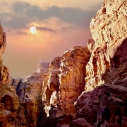 Jordan Tours from Canada - Scenic view of canyon in Wadi Rum, Jordan