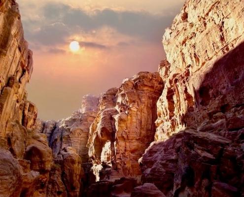 Jordan Tours from Canada - Scenic view of canyon in Wadi Rum, Jordan