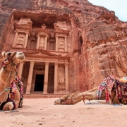 Jordan Tours from India - The Treasury, Al Khazneh, in Petra, Jordan