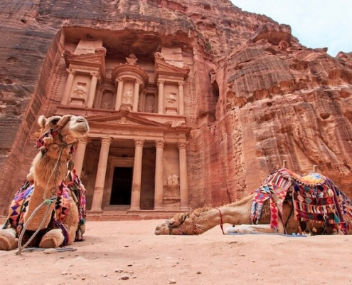 Jordan Tours from - The Treasury, Al Khazneh, in Petra, Jordan