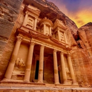 Jordan Tours from Amman - The Treasury at Petra