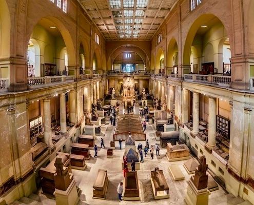 Giza Pyramids and Egyptian Museum Tour
